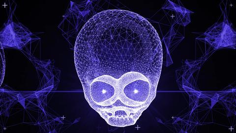 Techno Alien Skull VJ-Loop 2 Animation