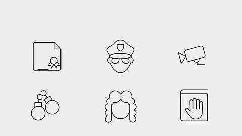 Lawyers Icons 모션 그래픽 템플릿