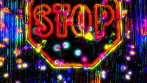 Acid Stop Sign 01 Animation