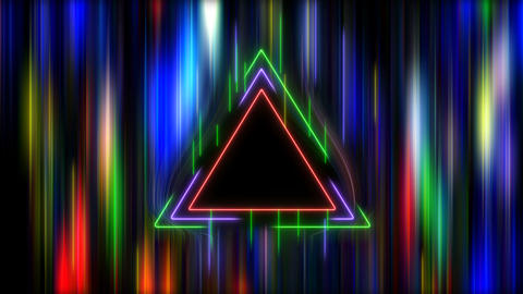 Neon Triangle in Hyper Space Videos animados