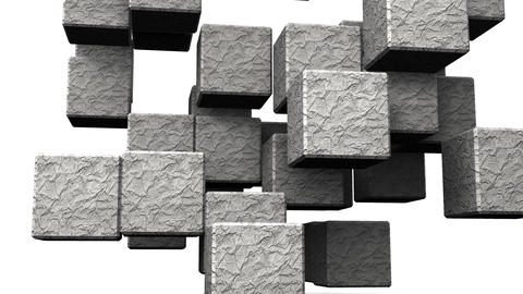 Stone Cube Abstract On White Background CG動画
