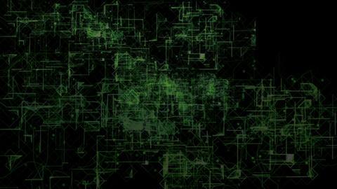 テクノロジー、デジタル、近未来をイメージした背景素材 CG動画