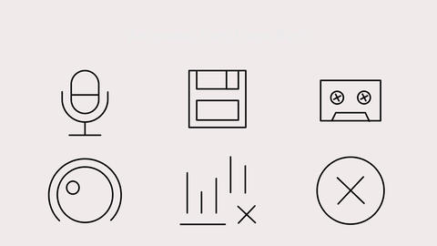 Audio Icons Motion Graphics Template