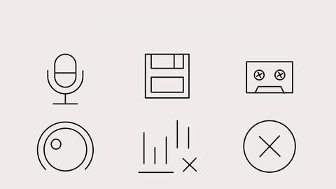 Audio Icons 모션 그래픽 템플릿