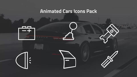 Animated Cars Icons Pack Motion Graphics Template