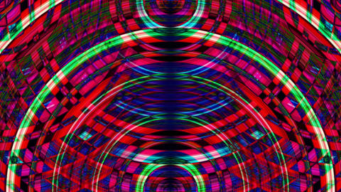 Dynamic Waves from Colorfull Psy Circles Videos animados