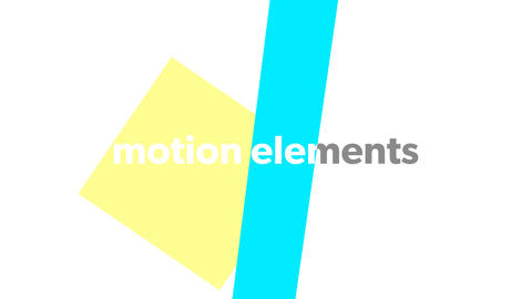The opening introduction text title of the shape animation! After Effects Template