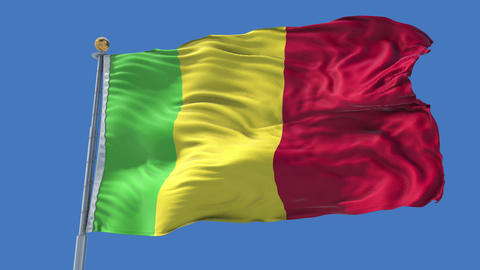 Mali animated flag pack in 3D and isolated background Animation