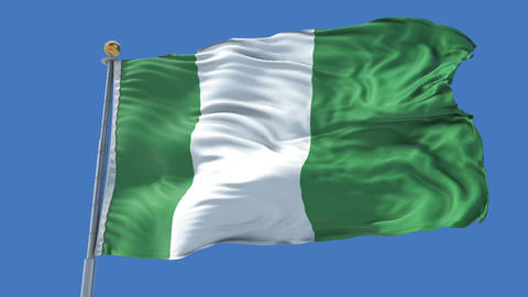 Nigeria animated flag pack in 3D and isolated background Animation