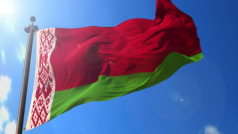 Belarus animated flag pack in 3D and isolated background Animation