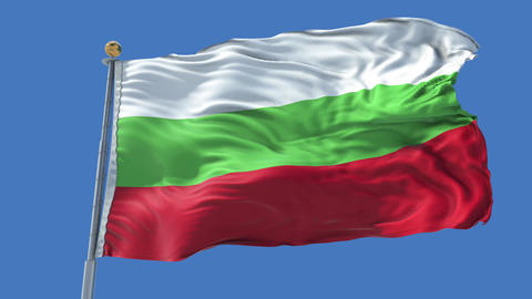 Bulgaria animated flag pack in 3D and isolated background Animation