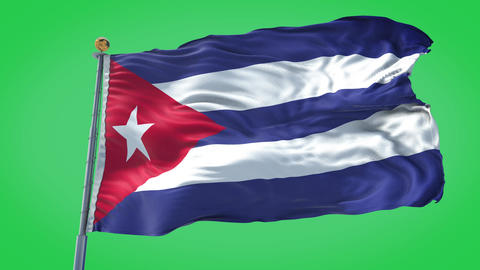 Cuba animated flag pack in 3D and green screen Animation