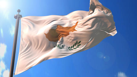 Cyprus animated flag pack in 3D and green screen Animation