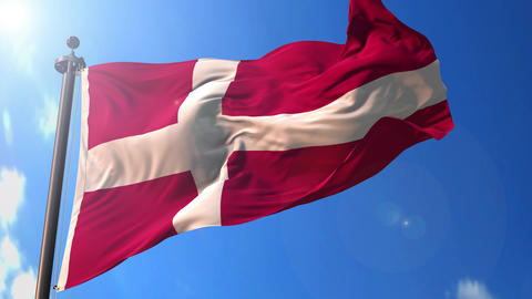 Denmark animated flag pack in 3D and green screen Animation