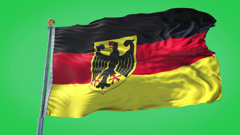 Germany animated flag pack in 3D and green screen Animation