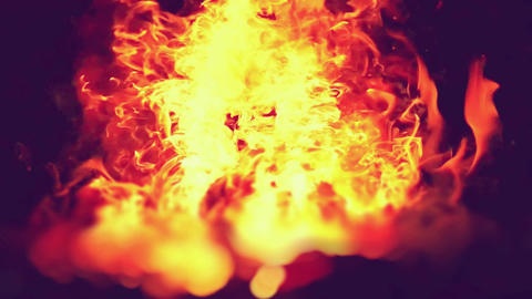 Traditional blacksmith furnace with burning fire Burning hot iron, burning embers, sparks. Blazing Live Action