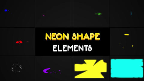 Neon Shape Elements After Effects Template