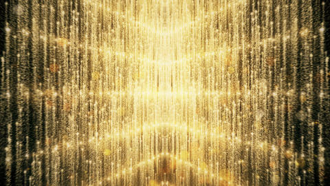 Gold Glitter And Reflection Lights 03 Animation