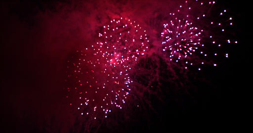 Fireworks Deauville in Normandy, Real Time 4K Live Action