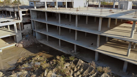 Building that is being built, concrete and sticking fittings Commercial Live Action