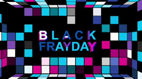 Black Friday advertisement with neon sign background HD animation seamless loop Animation