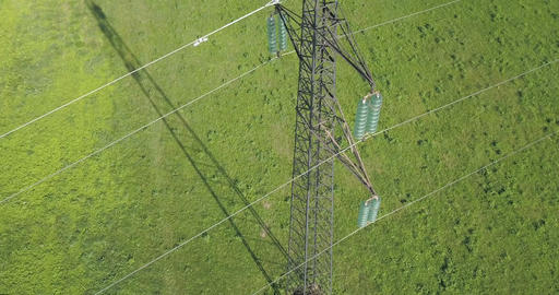 Power Line High Voltage Meadow Live Action