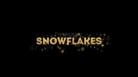 Titles Animator - Gold & Silver Snowflake After Effects Template