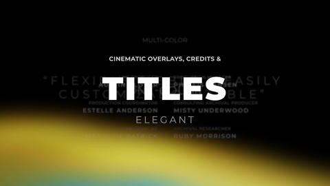 Titles Elegant Cinematic 2 Apple Motion Template