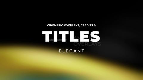 Titles Elegant Cinematic 2 Premiere Pro Template