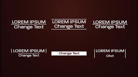 Modern Minimal Titles モーショングラフィックステンプレート