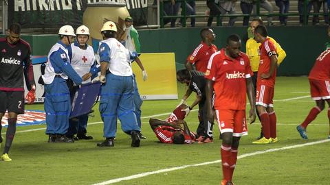 Medical Team for Injured Soccer Player Footage