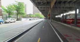Forward Perspective Riding Bike on East River Bikeway in Manhattan Footage