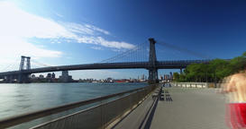 Timelapse POV Riding on East River Bikeway in Manhattan Footage