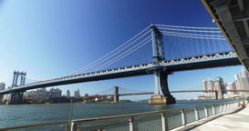 Daytime Establishing Shot Manhattan Bridge Footage