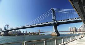 Daytime Establishing Shot Manhattan Bridge Footage