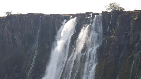 View of Victoria Falls from Zambia side Footage