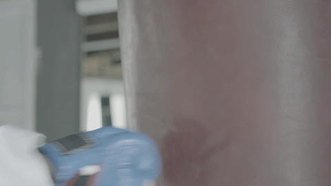 Slowmotion Close-Up Of A Hitting Punching Bag Footage