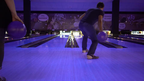 Bowling Playing Live Action