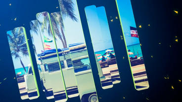 3D Split Slideshow After Effects Project