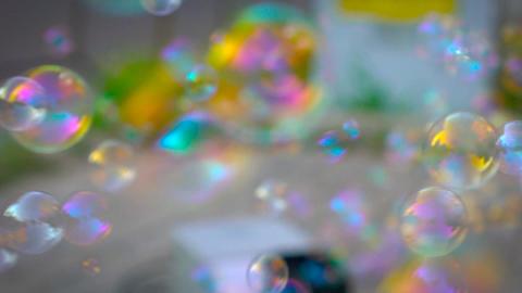 Soap Bubbles Machine Footage