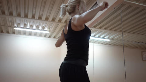 Dance Professionally Performed By Beautiful Blonde Footage