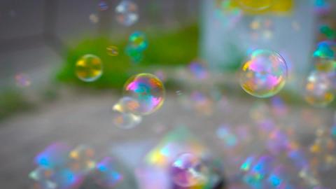 Soap Bubbles Machine, Slow Motion Footage