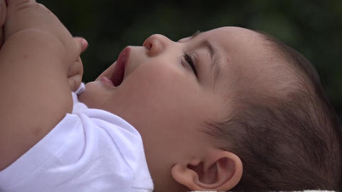 Happy Baby, Smiling Infant, Laughing Newborn Footage