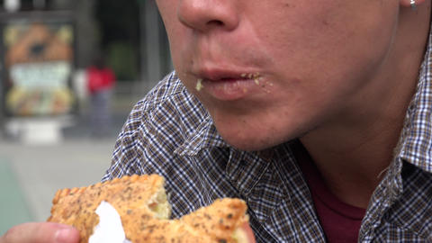 Man Eating Sandwich Live Action