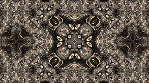 Colorful abstract metal art kaleidoscope animation background Animation