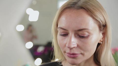 Beautiful woman portrait in a beauty salon Live Action