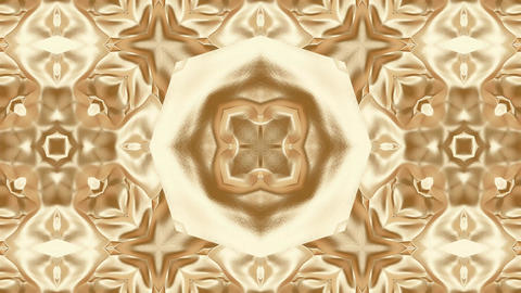 Colorful abstract golden art kaleidoscope animation background Animation