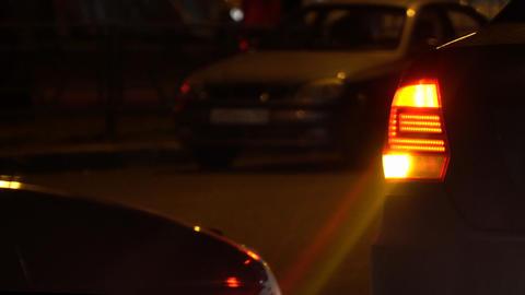 Emergency flashing car rear light lamp Live Action