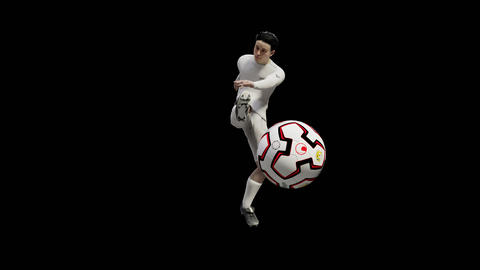 Soccer player kicking a ball Animation