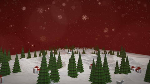 Christmas Tree and Snow Animation